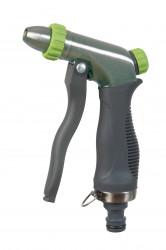 Pistolet arrosage/lavage trimatière métal brossé