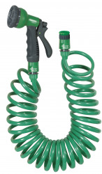 Kit tuyau spiralé 15m ACQUAPRO raccords + pist multifonctions