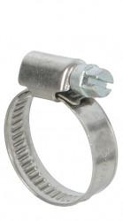 Colliers de serrage inox largeur 9mm diam.16-27mm en lot de 2