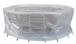 Housse «ECOplatinium» 90gr/m2, 200xH80cm pour table ronde et chaises