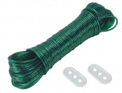 Corde à linge 10m + 2 tendeurs