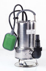Pompe vide-cave eaux chargées 750w inox + interrupteur flotteur