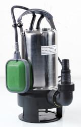 Pompe vide-cave eaux chargées 900w inox  base plastique + interrupteur flotteur