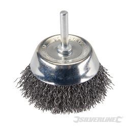 Brosse boisseau à fils d'acier ondulés 75 mm