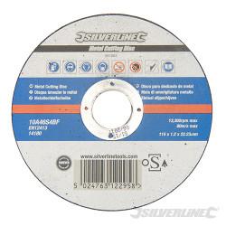 Disque à tronçonner le métal certifié OSA 115 x 1,2 x 22,23 mm