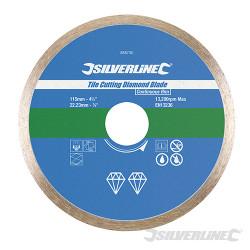 Disque diamant pour carreaux 115 x 22,23 mm à bordure continue
