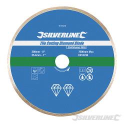 Disque diamant pour carreaux 200 x 25.4 mm à bordure continue