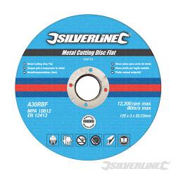 10 disques plats à tronçonner le métal 125 x 3 x 22,23 mm