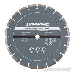 Disque diamant à tronçonner l'asphalte 300 x 20 mm à bordure segmentée