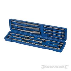 Coffret 12 pièces de forets et burins à maçonnerie SDS-Plus 12 pcs