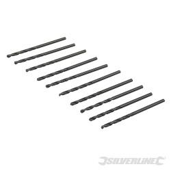 10 mèches métriques acier rapide HSS-R 2,5 mm
