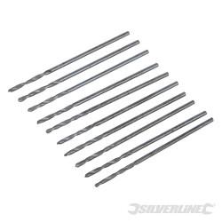 10 mèches métriques acier rapide HSS-R 1,0 mm