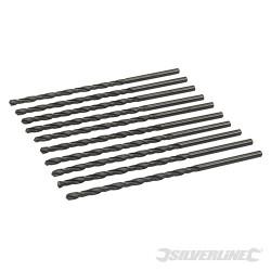 10 mèches métriques longues en acier rapide HSS-R 4,0 x 119 mm