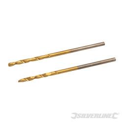 Jeu de 2 mèches en acier rapide titanées 1,5 mm