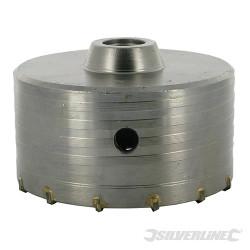 Scie trépan carbure de tungstène 115 mm