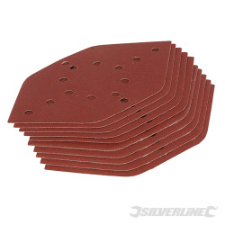 10 feuilles abrasives hexagonales Grain 240