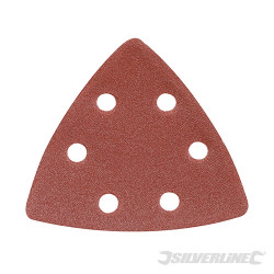 10 feuilles abrasives triangulaires auto-agrippantes 90 mm Grain 120