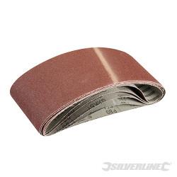 5 bandes abrasives 100 x 610 mm Grain 80