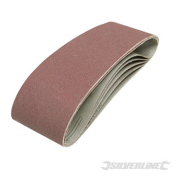 5 bandes abrasives 75 x 533 mm Grain 120