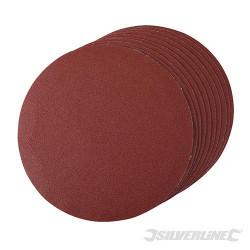 10 disques abrasifs auto-agrippants 180 mm Grain 120