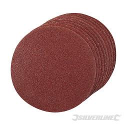 Lot de 10 disques auto-agrippants 125mm Grains assortis : 4 x 60, 2 x 80, 120, 240