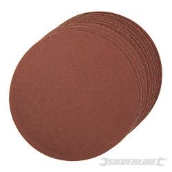 10 disques abrasifs autocollants de 150 mm Grains assortis : 2 x 60, 4 x 80, 120
