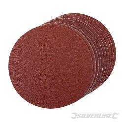 10 disques abrasifs autocollants de 150 mm Grain 60