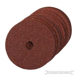 10 disques de ponçage en fibres 100 x 16 mm Grain 36