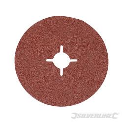 10 disques en fibre 125 x 22,23 mm Grain 36