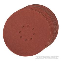 Lot de 10 disques auto-agrippants perforés 225 mm Grain 80