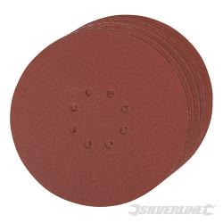 Lot de 10 disques auto-agrippants perforés 225mm Grain 120