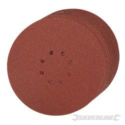 Lot de 10 disques auto-agrippants perforés 225 mm Grain 60