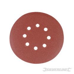 Lot de 10 disques abrasifs auto-agrippants perforés 150 mm Grain 180