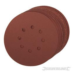 Lot de 10 disques auto-agrippants perforés 150mm Grains assortis : 4 x 60, 2 x 80, 120, 240