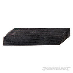 Lot de 10 bandes de nettoyage treillis carbure de silicium 38 x 250 mm