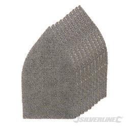 Lot de 10 triangles abrasifs treillis auto-agrippants 175 x 105 mm Grains assortis