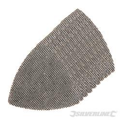 Lot de 10 triangles abrasifs treillis auto-agrippants 95 mm 4 x 40 G, 4 x 80 G, 4 x 120 G
