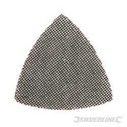 Lot de 10 triangles abrasifs treillis auto-agrippants 105 mm Grain 180