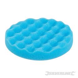 Éponge de polissage contourée auto-agrippante Médium, bleue, 150 mm