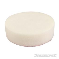 Éponge de polissage auto-agrippante Ferme, blanche, 150 mm