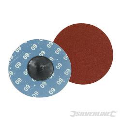 Kit 5 disques abrasifs à changement rapide 75 mm Grain 60