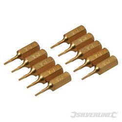 10 embouts dorés Torx T4