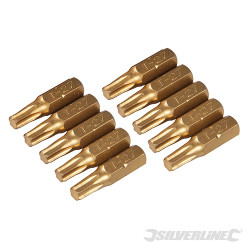 10 embouts dorés Torx T27