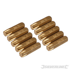 10 embouts dorés Torx T40