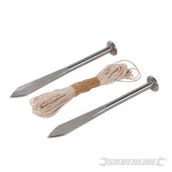 Pointes pour cordeau de maçon 160 mm