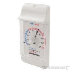 Thermomètre à cadran affichage min/max -30 °C à +60 °C