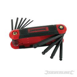 Monture de 10 clés mâles métriques à tête sphérique Expert 1,5 - 8 mm