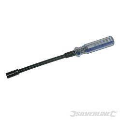 Tourne-écrou flexible pour colliers de serrage 7 mm 6 pans