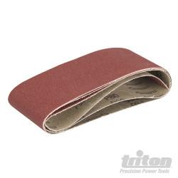 Lot de 3 feuilles abrasives pour la ponceuse à bande compacte Triton TCMBSCPK