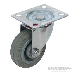 Roulette pivotante caoutchouc 75 mm 50 kg